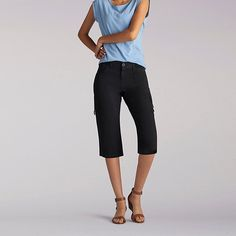 Lee Women's Relaxed Fit Edy Skimmer Capri Pants-Pet::12:P