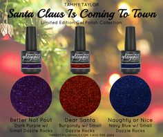 "♥ BRAND NEW! ""Santa Claus Is Coming to Town"" COLLECTION Limited Edition Gel Polish Collection"