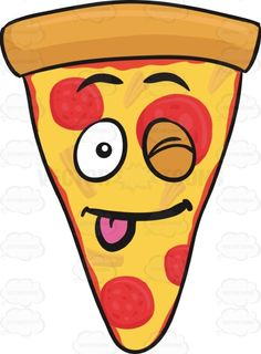 Slice Of Pepperoni Pizza Winking With Tongue Sticking Out Emoji Pizza Emoji, Pizza Ranch, Hypebeast Wallpaper, Thin Crust, Pizza Party, Clueless, Stick It Out, Kawaii, Pepperoni