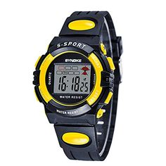 Sport Digital Waterproof Sport Watch for Boys Stopwatch * Find out more about the great product at the image link.