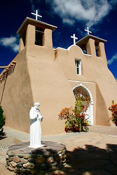 St. Francis of Assisi - a Catholic basilica south of Taos, New Mexico. Missionaries founded the church in 1610 - 10 years before the pilgrims established themselves at Plymouth Rock. The oldest church in the US is in Santa Fe, New Mexico, right next to the oldest house in the US.