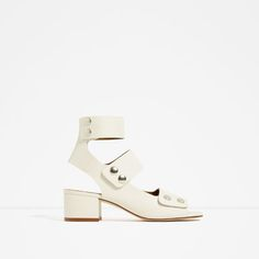 Image 1 of LEATHER BOOT-STYLE SANDALS from Zara