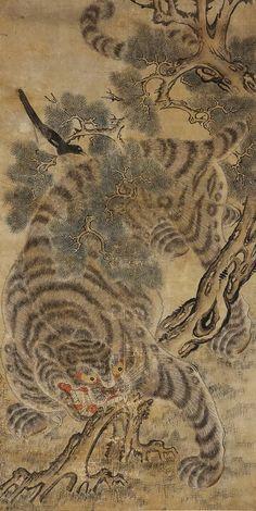 호작도 Tiger and Magpie