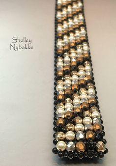 SImply Marvelous  Bracelet - Black-Gold-Ivory by SturdyGirlDesigns on Etsy