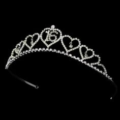 Sweet 16 Tiara Covered in Sparkling Rhinestones by DivinebyDayna, $32.00