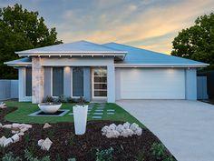 Native facade with feature pilar. Ausbuild Denham Display Home. See website for display locations. www.ausbuild.com.au