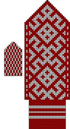 Photo Knitted Mittens Pattern, Knit Mittens, Knitted Gloves, Knitting Socks, Hand Knitting, Knitting Charts, Knitting Stitches, Knitting Designs, Knitting Patterns