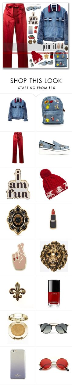"""Pin it!"" by cowseatchard ❤ liked on Polyvore featuring Jamie Wei Huang, Helmut Lang, STELLA McCARTNEY, ban.do, WithChic, Gucci, Georgia Perry, Yves Saint Laurent, Chanel and Milani"