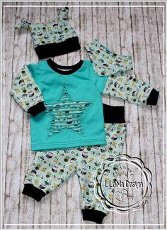 ♥Süßes Baby Boy Erstlingsset gr.50/56♥ von LiLaNa Design auf DaWanda.com
