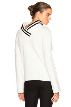 Image 1 of Frankie Reverse Varsity Sweater in Ivory