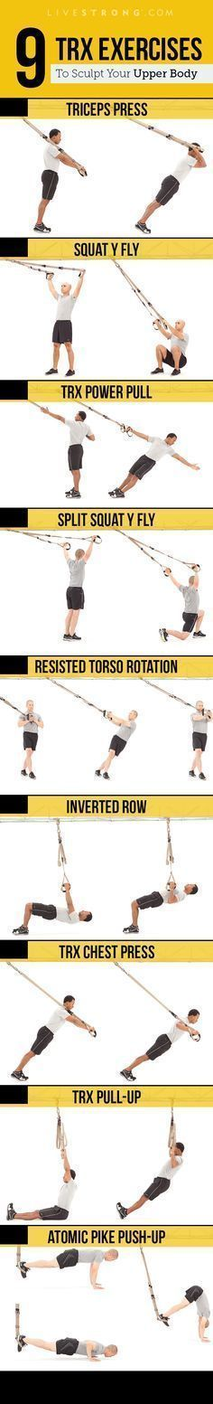 Moves to Sculpt an Insanely Strong Upper Body Get ripped with TRX.Get ripped with TRX.TRX Moves to Sculpt an Insanely Strong Upper Body Get ripped with TRX.Get ripped with TRX. Fitness Workouts, Training Fitness, Sport Fitness, Weight Training, Strength Training, Fitness Tips, Fitness Motivation, Muscle Fitness, Gain Muscle