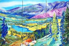 Ripple Effect - Mount Massive Wilderness Tile Mural, $168.00 (http://www.rippleeffectmarketplace.com/mount-massive-wilderness-tile-mural/)