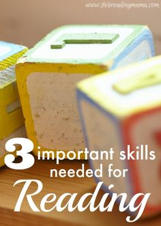 3 Important Skills Needed for Reading ~ a series on building a solid foundation for our readers and writers {these are skills that often struggling readers are missing} Reading Resources, Reading Strategies, Reading Skills, Teaching Reading, Teaching Ideas, Guided Reading, Reading Help, Reading Comprehension, Reading Groups
