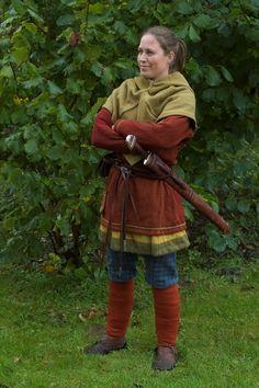 """Mit kamptøj og mit nye """"Binns""""-sværd."""