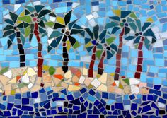 tropical mosaics   Palm Trees Mosaic Photograph by Lou Ann Bagnall - 7 Palm Trees Mosaic ...