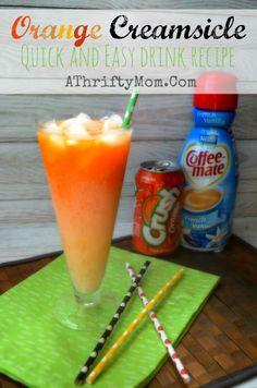 Orange Creamsicle  drink, fast ans easy refreshing summer drink #OrangeCreamsicleDrink