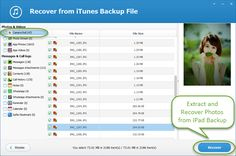 Accidentally delete/lost photos from iPad backup? Take it easy. You can get iPad photos back with jihosoft iTunes backup extractor in a few clicks.