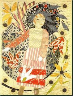 The Magic Garden embroidery by Rebecca Crompton (1895 - 1947)