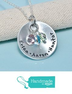 Personalized Hand stamped Mothers Necklace with swarvoski crystal - Necklace for mom -Mothers day - necklace with kids names - Gift for woman from BrandedHeartJewelry http://www.amazon.com/dp/B018FMWFWA/ref=hnd_sw_r_pi_awdo_cbmywb0CJCS0B #handmadeatamazon