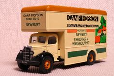 "Corgi Classics C953/7 Bedford O Series Pantechnicon ""Camp Hopson"" of Newbury. Die-cast with plastic parts.  http://thegeniescave.co.uk/product-category/diecast/corgi-classics/"