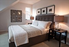 Minimalist Bedding Ideas - Monochromatic colors and minimalist accent choices