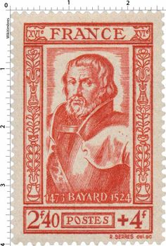 Timbre 1943 : BAYARD 1473-1524 | WikiTimbres