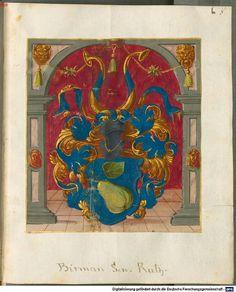 Wappen - Heraldik : Wappen der Familie Birman / Coat of Arms of The Family Birman / Armas de la Familia de Birman