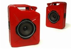 Recycled Gasoline Cans Become Portable Audio Speakers
