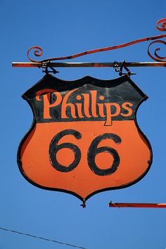 Phillips 66 on Route 66, McLean, Texas. Road trip! http://frank-romeo.artistwebsites.com/art/all/route+66/all Art Print by Frank Romeo.