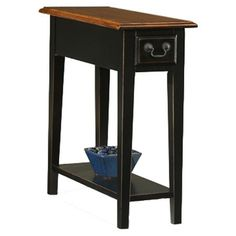 Found it at Wayfair - Favorite Finds End Table in Black & Cherry