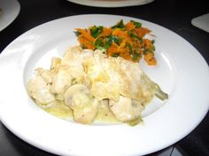 Chicken pie and chunky carrots