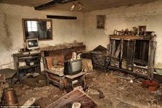 The former rescue centre's living room resembles a time capsule of 30 years ago, with bulk...