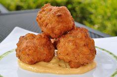 Shrimp Beignets from Bastille Restaurant