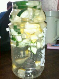 Derox drink.. 2 liters of water, lemons and cucumbers