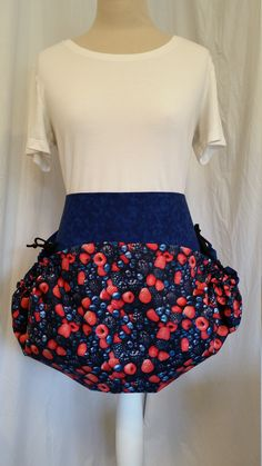Very berry harvest apron with blue background by NWCreativeKeepsakes on Etsy Teacher Apron, Waist Apron, Work Aprons, Gardening Apron, Half Apron, Apron Pockets, Blue Backgrounds, Favorite Color, Harvest