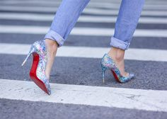 Glitter Shoes for Holiday Parties and Beyond  #shoes #pumps #glittershoes