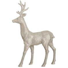 Debenhams Silver glitter Christmas reindeer Debenhams (790 PHP) ❤ liked on Polyvore featuring home, home decor, holiday decorations, natale, deer christmas ornaments, xmas ornaments, silver home accessories, glitter ornaments and christmas holiday decorations