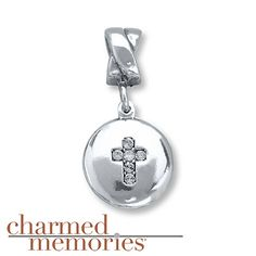 Charmed Memories Cross Charm Sterling Silver