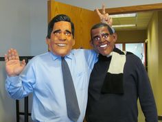 Mitt (Joe) and Barack (Tom) the Left Business Brain, celebrate a moment of levity at Halloween