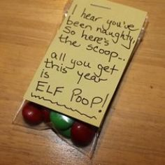 elf poop red green mms christmas holiday gag gift ideas