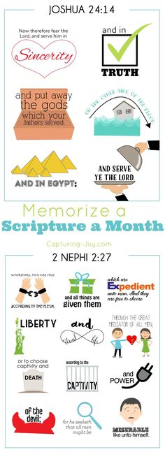 Memorize Scriptures in June with our memorize a scripture a month series. Free printables for Bible and The Book of Mormon.