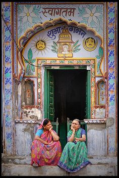 Sitting and talking , India