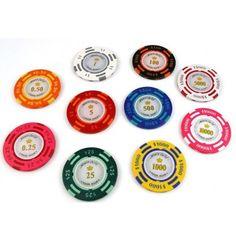 De meest populaire pokerchips uit ons assortiment, en niet zonder reden!  Deze pokerchips van zeer hoge kwaliteit zijn een lust voor het oog. De waarde van iedere chip staat niet alleen weergegeven op de inlay, maar ook in de chip zelf.   Deze zeer uitgebreide serie bevat waardechips vanaf $0,25 t/m $10.000.