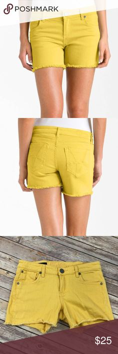 Kut from the Kloth Gidget Frey shorts Kut from the Kloth  Gidget Frey short  Cut off style Yellow denim jean shorts Have stretch Kut from the Kloth Shorts Jean Shorts
