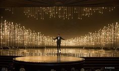 Seth MacFarlane hosts The Oscars® from the Dolby® Theatre Stage Set Design, Church Stage Design, Theatre Design, Conception Scénique, Christmas Stage Design, Bühnen Design, Concert Stage Design, Wedding Stage Decorations, Backdrop Design