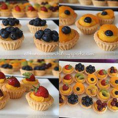 Mini Fruit Pies, Mini Pies, Fruit Tarts, Tart Recipes, Cookie Recipes, Snack Recipes, Snacks, Japanese Bakery, Custard Tart