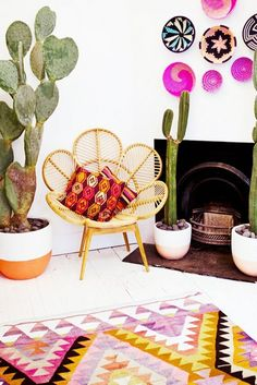 southwest modern decor #cactus #pink