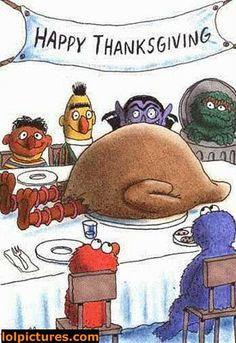 Big Bird Happy Thanksgiving!   Huppie Mama