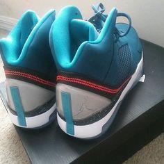 Nike Air jordan flight remix size 9.5 tropical blue transparent soul bottom