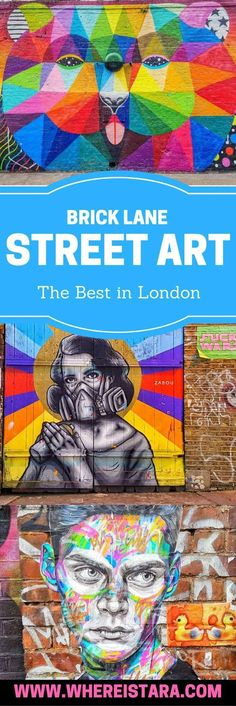 Exploring London and looking for Brick Lane street art. There is so much to see. East London is such a colourful part of the city. You'll find Banksy pieces and more.